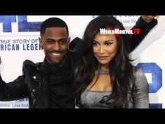Glee Naya Rivera and Rapper Big Sean True Love holding Hands at 42 LA premiere - YouTube