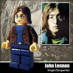Celebridades en Lego : John Lennon