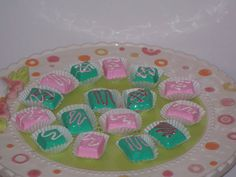 mint and pink cupcake