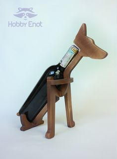 "Wine bottle holder ""Dog"""