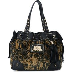 Juicy Couture snake print hobo bag ($263) ❤ liked on Polyvore featuring bags, handbags, shoulder bags, black, hobo shoulder handbags, snake print purse, snake print handbags, juicy couture purses and juicy couture