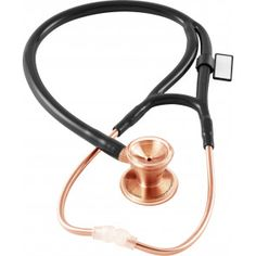 MDF® Classic Cardiology Dual Head Stethoscope - with Stainless Steel Chestpiece and Headset (MDF797) - Rose Gold / Black