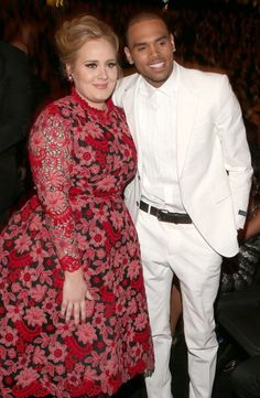 Chris Brown & Adele at the Grammy (2013)
