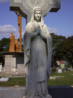 https://flic.kr/p/69t9ug | Our Lady of Lourdes Statue | Sculpture from Notre Dame Cemetery in Fall River, MA.