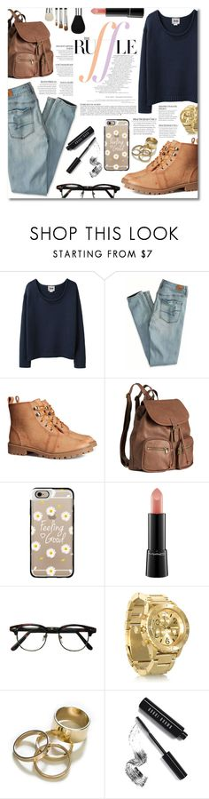 """""""Do more than just exist."""" by elizabeth4ever ❤ liked on Polyvore featuring ファッション, Acne Studios, American Eagle Outfitters, H&M, Anja, Casetify, MAC Cosmetics, Nixon, Zara と Bobbi Brown Cosmetics"""