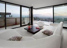 Contemporary Home Design in Manhattan Beach - three-story home with an elevator Living Room Inspiration, Interior Inspiration, Dream Beach Houses, Interior Decorating, Interior Design, Modern House Design, Luxury Living, My Dream Home, Home Deco