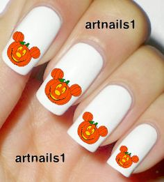 Get Spooky with Pumpkin Mickey Mouse Nail Decals