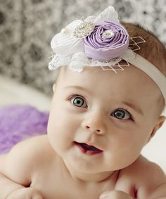 Look at this Lavender & White Shabby Diaper Cover & Headband - Infant by Ella's Bows Beautiful Children, Beautiful Babies, Cute Kids, Cute Babies, Ruffle Diaper Covers, Baby Puppies, Baby Bows, Baby Headbands, Cool Baby Stuff