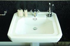 Perrin & Rowe Art Deco Bathroom Basin & Pedestal 2931 http://www.superusandbutler.com/perrin-rowe/perrin-rowe-deco-suite