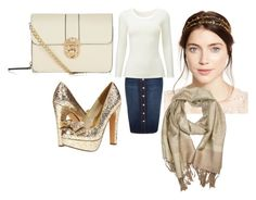"""Gold accents"" by modest-fashionista87 on Polyvore featuring River Island, Jennifer Behr, Uniqlo and Diba"