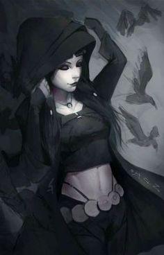 The Raven, one of the Interlopers. Comic Book Characters, Fantasy Characters, Female Characters, Character Inspiration, Character Art, Manga Japan, Raven Beast Boy, Univers Dc, Raven Art