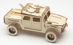 Laser Cut Puzzle Model  Humvee by Laserist on Etsy, $19.95