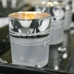 Silver Plated Glass Votive Candle Holders Rhinestone Gems Set of 12 *** You can get additional details at the image link.
