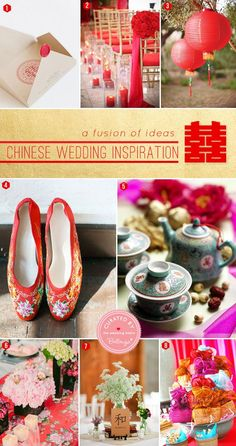Chinese Wedding Ideas for the Ceremony to Reception. Stylish Chinese Wedding Inspiration with Traditional Yet Modern Elements. Chinese Wedding Tea Ceremony, Chinese Wedding Decor, Chinese Wedding Invitation, Traditional Chinese Wedding, Oriental Wedding, Red Wedding, Wedding Ceremony, Wedding Stuff, Wedding Car