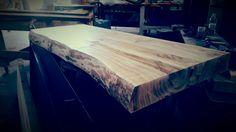 Mensola piano lavabo in legno massello originale xlab design made in italy