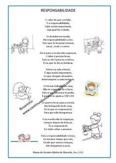 Texto para trabalhar a responsabilidade da criança. | Aprender e Brincar