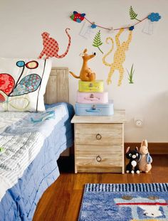 Ideia para decorar a parede de um quarto de criança, fofo!
