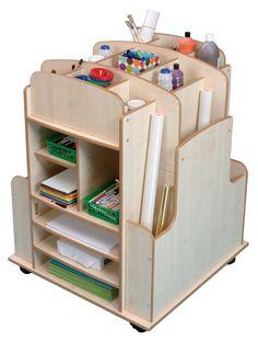 Mobile art storage trolley - Art Trolley Storage