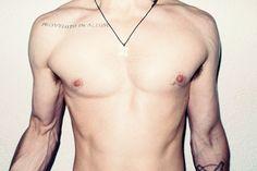 collar bone tattoo