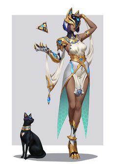 Deusa egípcia de outra realidade