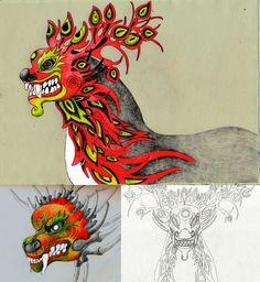 DragonDeer by Lina Kusaite, via Behance