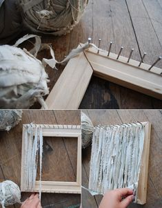 Poppytalk: Best of DIYs - A Loom + Weaved Trivet-- or pieces that can be connected for bags, blankets, rugs, etc.