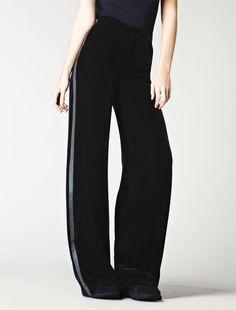 Black velvet trousers, midnight blue - Max Mara
