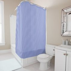 #stripes - #Lilac Striped Shower Curtain