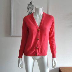 Bonnie Cashin for Ballantyne Scotland 100% Cashmere Cardigan Pink