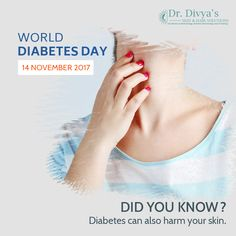 Cutaneous Skin Manifestations can be the first sign that a person has diabetes. It is important to recognize these symptoms and treat them with the help of a good dermatologist or diabetologist. #DiabetesAwareness #WorldDiabetesDay #ChangeforGood #WDD #Womenanddiabetes #SkinandHairSolutions
