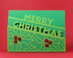 Merry Christmas Edge Card - Free SVG |