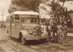 Transporte público en la Ciudad de México durante las décadas de los años 40's y 50's.