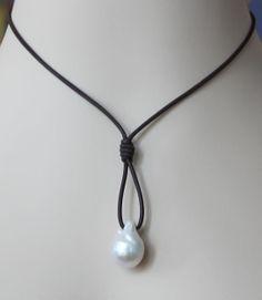 collar de perlas de agua dulce  envío gratis por destinpearl, $59.00