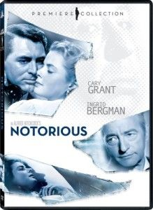 Notorious (1946) Directed by Alfred Hitchcock and starring three of my favorite actors, Cary Grant, Claude Rains & Ingrid Bergman