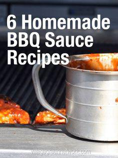 6 Homemade BBQ Sauce Recipes / http://villagegreennetwork.com/6-homemade-bbq-sauce-recipes/?utm_content=buffer54308&utm_medium=social&utm_source=pinterest.com&utm_campaign=buffer