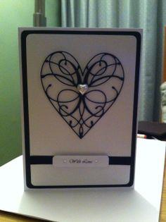 Black Memory Box La Rue Heart Handmade Card
