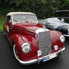 "Mercedes-Benz 220 Cabriolet A at the ""Bremen Oldtimer Classics"". 1.278 Cabriolet A's were produced 1951–1955.  #W187 #MercedesBenz #220 (source: teilix/instagram) #BruceAdams190SL"