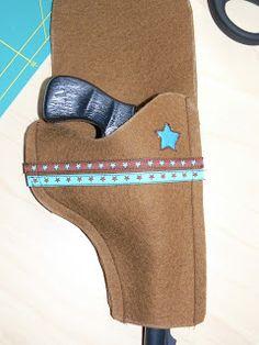 AllerHandArbeiten: Mini Anleitung: Pistolen Holster für Cowboys