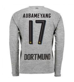 Billiga Fotbollströjor Dortmund Aubameyang 17 Tredjeställ 17-18 Långärmad Manchester United, Graphic Sweatshirt, Sweatshirts, Sweaters, Fashion, Goaltender, Football Soccer, Man United, Moda