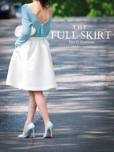 Bittersweet Colours: Fun & Feminine: The Full Skirt