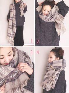 Blanket Scarf Outfit, Scarf Dress, Fashion Lookbook, Ootd Fashion, Womens Fashion, Cozy Fall Outfits, Cool Outfits, Cold Weather Fashion, Winter Fashion