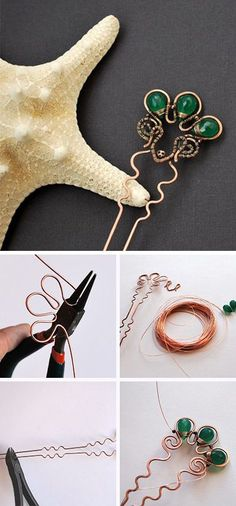 Wire wrap copper hairpin step by step tutorial