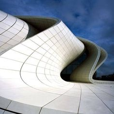 Zaha Hadid's Heydar Aliyev Center has beaten out seven shortlisted designs to win London Design Museum's Designs of t. Zaha Hadid Architecture, Zaha Hadid Buildings, Architecture Design, Futuristic Architecture, Architecture Today, Innovative Architecture, Concrete Architecture, Architecture Quotes, Architecture Interiors