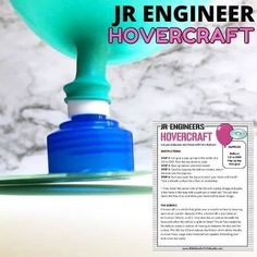 Allow your child to be a little engineer and create their very own hovercraft! With just a few simple household items, you can have a fun DIY craft that your kids made themselves. Check out this free and totally doable craft activity with your kids today. Steam Activities, Science Activities For Kids, Kindergarten Science, Easy Science Experiments, Stem Science, Stem Projects, Science Projects, Stem Learning, Hands