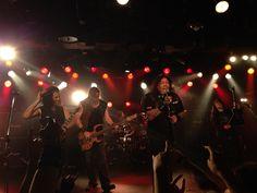 Thrash-Metal-Band Testament auf Japan Tour 2014 in Nagoya