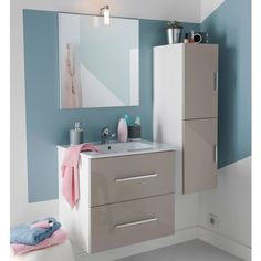 meuble salle de bain volga taupe castorama