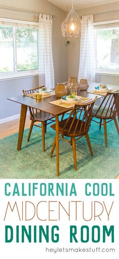 This midcentury modern dining room combines the classic lines of midcentury style and a laid-back California vibe. Check out the full makeover reveal here! Contemporary Interior, Modern Interior Design, Modern Decor, Cheap Home Decor, Diy Home Decor, Dining Table Price, California Cool, Natural Home Decor, Mid Century House