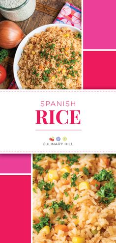 This authentic recipe for Spanish Rice is sure to impress as it is quick, simple, flavorful, and technique-driven to ensure the perfect texture every time! Entree Recipes, Rice Recipes, Side Dish Recipes, Casserole Recipes, New Recipes, Cooking Recipes, Favorite Recipes, Healthy Recipes, Delicious Recipes