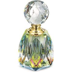 This beautiful glass multi color perfume bottle is so beautiful Lalique Perfume Bottle, Crystal Perfume Bottles, Antique Perfume Bottles, Vintage Bottles, Bottle Vase, Glass Bottles, Beautiful Perfume, Decoration, Vases