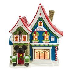 Department 56 Mickey's Christmas Village Collection Mickey's Pin ...